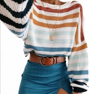 Striped knit sweater NWT